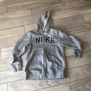 Nike Boys Large Zip Up Gray Sweatshirt